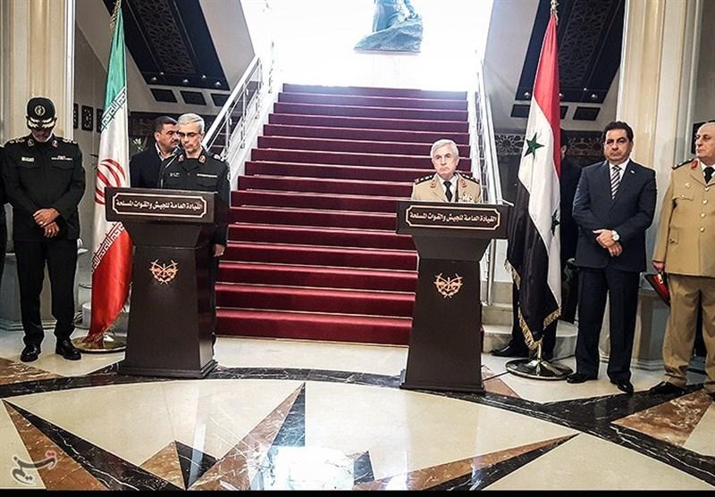 تقریر مصور .. المؤتمر الصحفی المشترک بین اللواء باقری ونظیره السوری فی دمشق