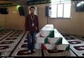 جوانان خوزستانی پیکر شهدای نیروی انتظامی را زیارت کردند