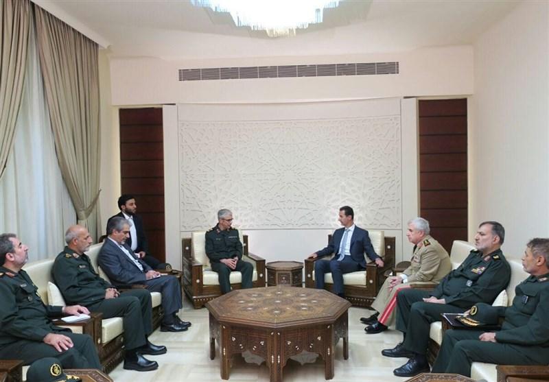 سرلشکر باقری و بشار اسد