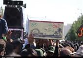 تشییع سه شهید گمنام در دامغان
