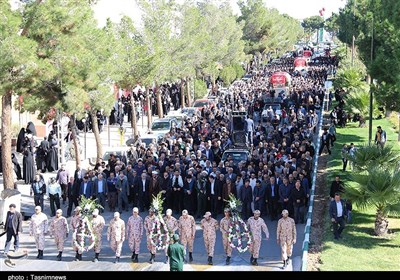 تشییع سه شهید گمنام در دامغان 27 مهر 96