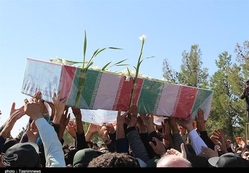 آئین تدفین سه شهید گمنام در دامغان