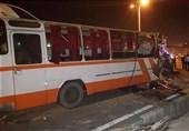 تصادف خونین اتوبوس در کرج/ 14 نفر مصدوم شدند
