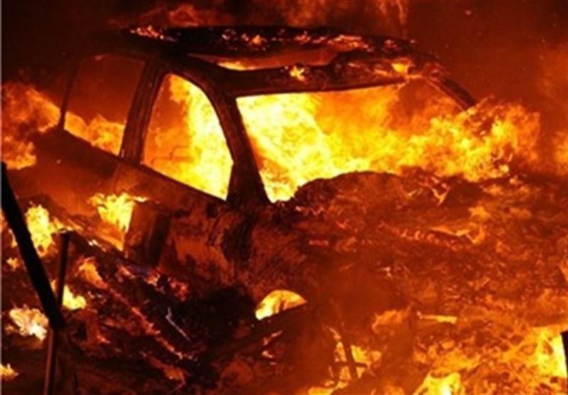 گزارش میدانی تسنیم از خیابان پاسداران؛ خودروی یکی از اهالی محل به آتش کشیده شد