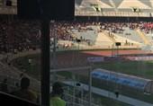 شعار هواداران علیه هم در حضور پرسپولیسیها/ حضور مدیرعامل پیشین سرخپوشان و مربی تیم ملی + تصاویر