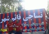 حاشیه دیدار نساجی-تراکتور| تجمع هواداران بدون بلیت در ورودی ورزشگاه شهید وطنی