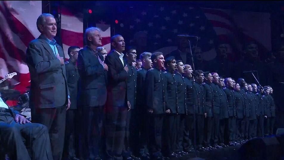 حضور 5 رئیسجمهور سابق آمریکا در مراسم خیریه بدون اشاره به نام ترامپ +تصاویر