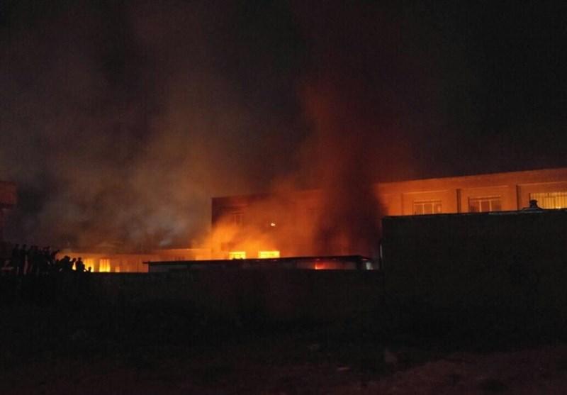 مردم اسلام آباد، مدرسه را به آتش کشیدند / فیلم