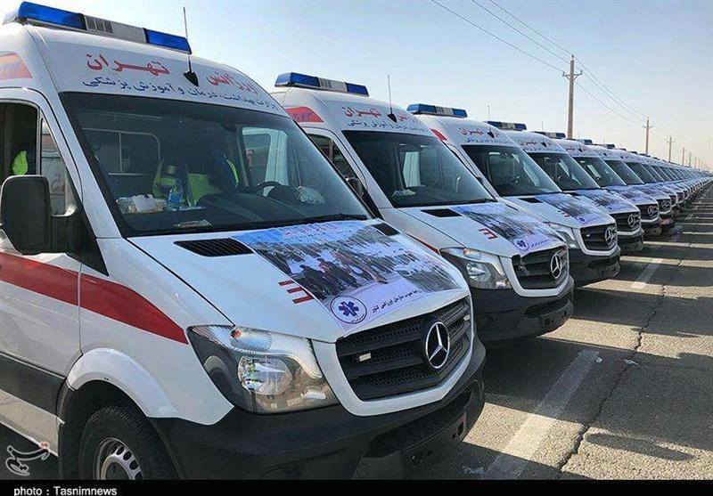 خودروهای پشتیبان اورژانس اصفهان به کرمانشاه اعزام میشوند