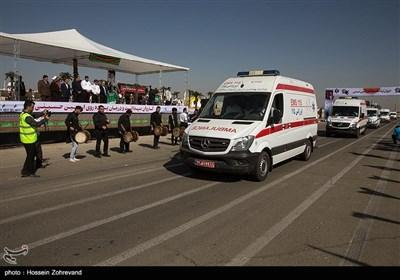 آئین اعزام و بدرقه کاروان بهداشت و درمان اربعین حسینی