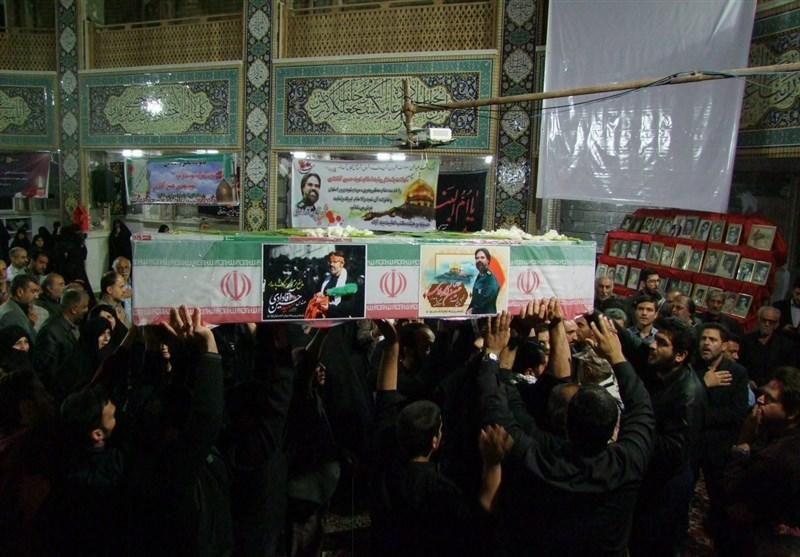 شهدای مدافع حرم و دفاع مقدس در گلستان شهدای اصفهان آرام گرفتند