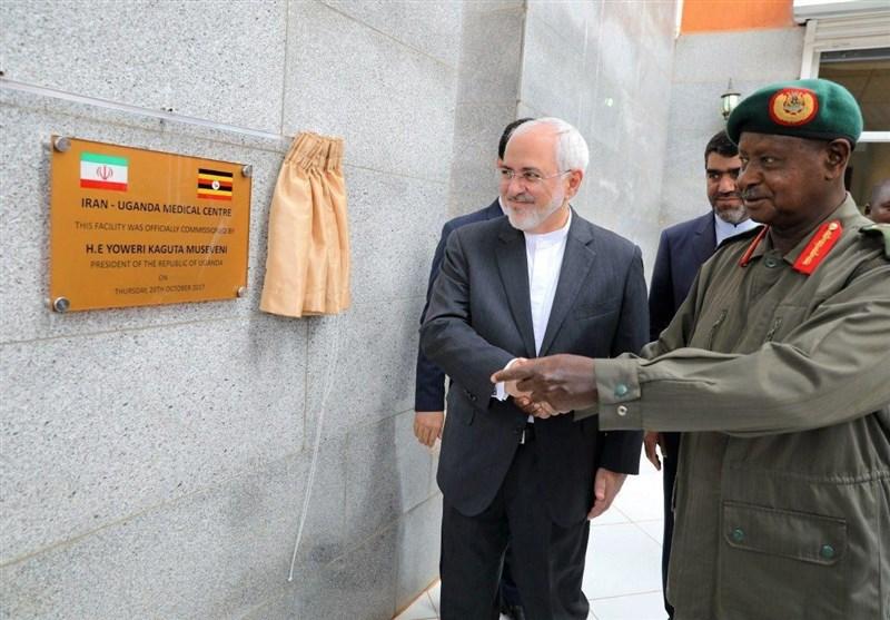 افتتاح مرکز درمانی ایران-اوگاندا با حضور ظریف+عکس
