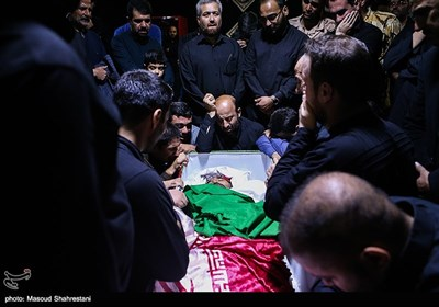 مراسم وداع با پیکر شهید مدافع حرم شعبانعلی امیری
