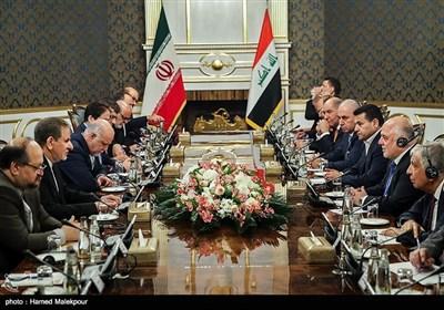 دیدار دو جانبه حیدر العبادی نخست وزیر عراق با اسحاق جهانگیری معاون اول رئیس جمهور