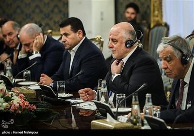 حیدر العبادی نخست وزیر عراق در دیدار با اسحاق جهانگیری معاون اول رئیس جمهور