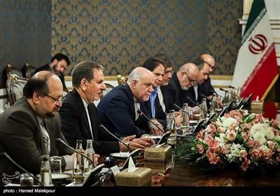 اسحاق جهانگیری معاون اول رئیس جمهور در دیدار با حیدر العبادی نخست وزیر عراق