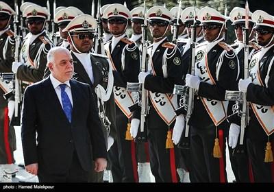 مراسم استقبال رسمی از حیدر العبادی نخست وزیر عراق