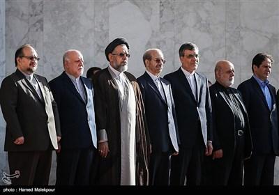 هیئت ایرانی در مراسم استقبال رسمی از حیدر العبادی نخست وزیر عراق