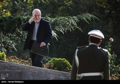 بیژن نامدار زنگنه وزیر نفت در مراسم استقبال رسمی از نخست وزیر عراق