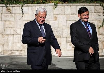 راجح صابر عبود الموسوی سفیر عراق در مراسم استقبال رسمی از نخست وزیر عراق