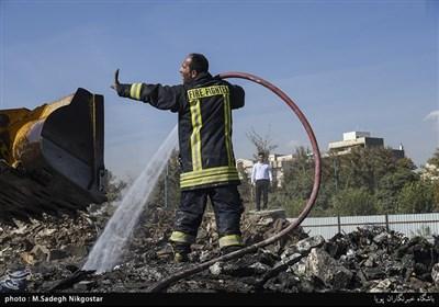 آتش سوزی در سیرک کرج