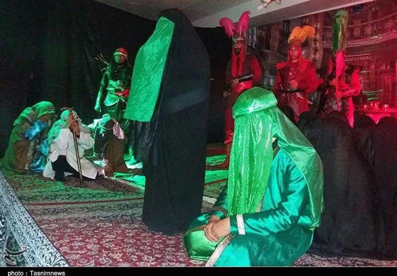 نمایش خطبهخوانی حضرت زینب(س) در ورامین برگزار شد