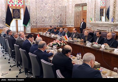 دیدار حیدر العبادی نخست وزیر عراق با علی لاریجانی رئیس مجلس