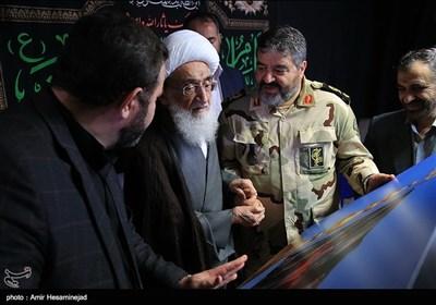 دیدار سردار غلامرضا جلالی رئیس سازمان پدافند غیرعامل با آیتالله نوری همدانی