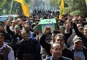 """گلزار شهدای تهران پیکر دو شهید """"فاطمیون"""" را در آغوش گرفت+عکس"""
