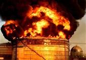 پالایشگاه نفت تهران آتش گرفت