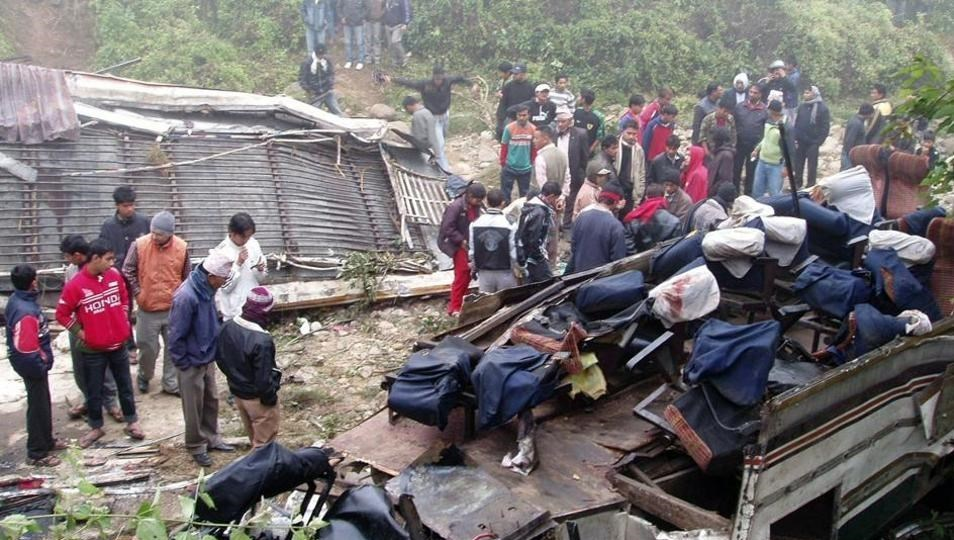 Bus Veers Off Highway in Nepal, Killing 31 People