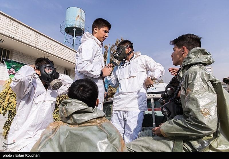 تہران؛ ہنگامی حالات سے نمٹنے کیلئے طلباء کی تربیت