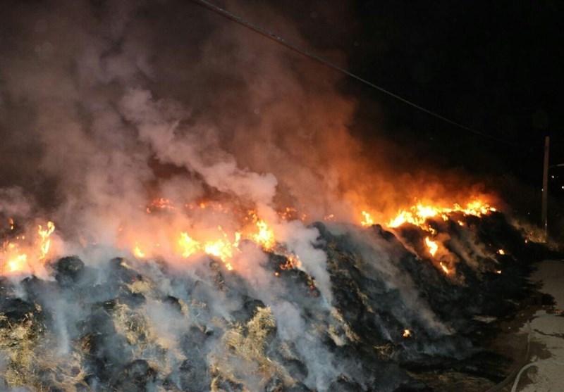 نیروی امدادی پس از مهار آتش همچنان در منطقه طارم مستقر هستند