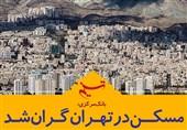فتوتیتر/ بانک مرکزی: مسکن در تهران گران شد