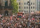اعتراضات ضد نژادپرستی در شهر درسدن آلمان برگزار شد