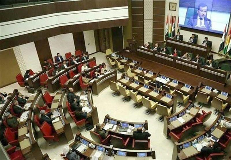 ویدئو/درگیری در پارلمان اقلیم کردستان عراق همزمان با قرائت متن نامه کنارهگیری بارزانی