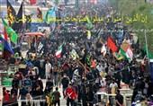 """""""ماسک فیلتردار"""" در پی پدیده ریزگردها در عراق بین زائران اربعین مرز شلمچه توزیع شد"""