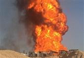"""آتش چاه نفتی """"رگ سفید"""" بعد از گذشت 24 ساعت هنوز مهار نشده + عکس"""