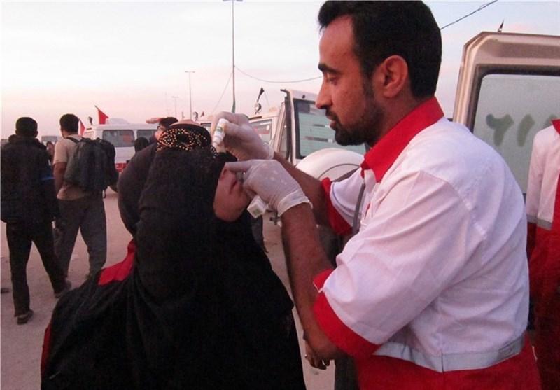 جزئیات خدمات درمانگاه نجف به زوار اربعین در روزهای غبارآلود عراق