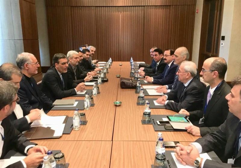 دیدارهای دو جانبه هیئت ایرانی با طرفهای سوری، روسی و ترک در آستانه