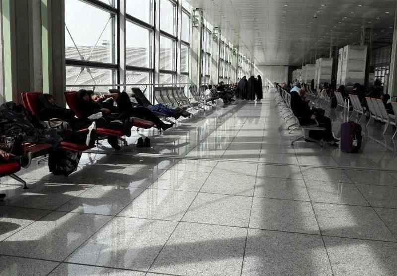 اعلام کنسلی پروازهای عراق در فرودگاه امام پس از 8 ساعت معطلی مسافران + فیلم