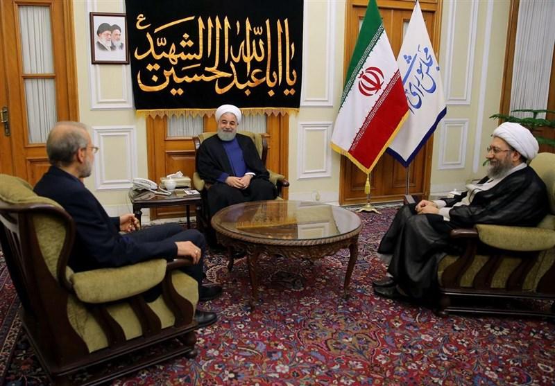 آغاز جلسه لاریجانی روحانی لاریجانی