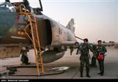 تکرار/ تمرین جنگندههای ارتش و سپاه برای رژه 31 شهریور در بندرعباس
