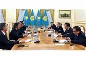 دیدار هیئتهای روسیه، ایران و ترکیه با رئیس جمهور قزاقستان