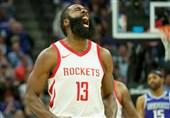 لیگ NBA| پیروزی راکتس با 40 امتیاز هاردن/ لیکرز به جمع 8 تیم برتر کنفرانس غرب رسید