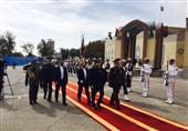 استقبال رسمی معاون قرارگاه خاتم الانبیا از رئیس ستاد ارتش روسیه