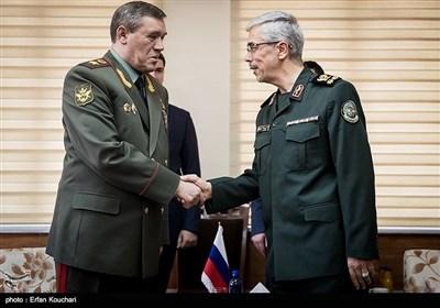 سرلشکر باقری با رئیس ستاد کل نیروهای مسلح روسیه دیدار کرد