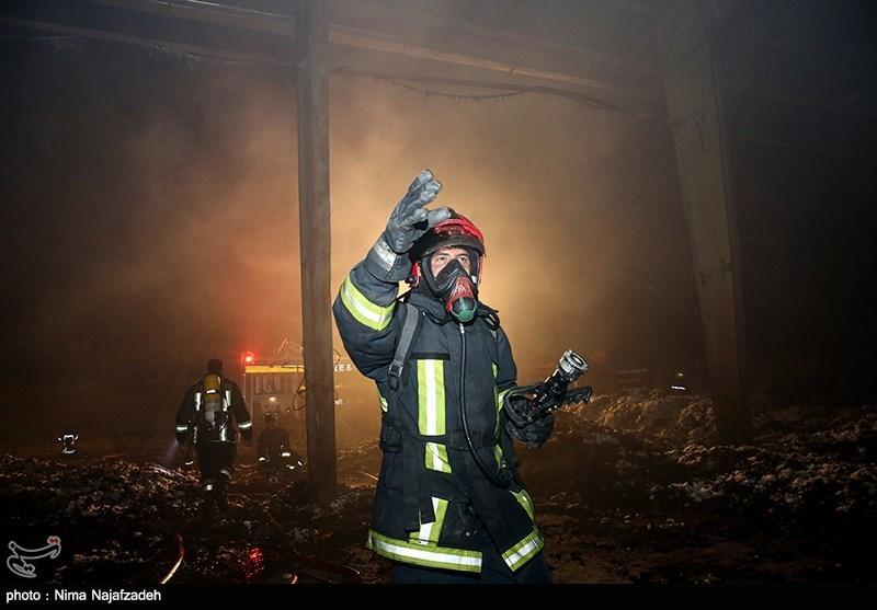 آتش سوزی در کارخانه پنبه - مشهد