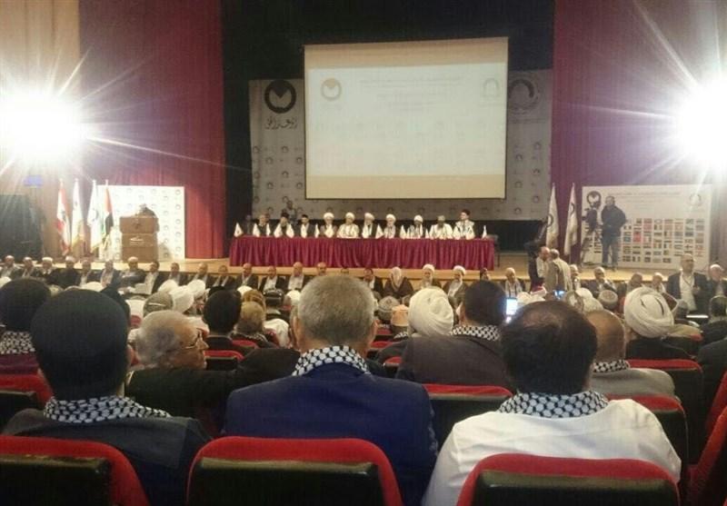 عالمی فلسطین کانفرنس ''الوعد الحق'' مفتی اعظم لبنان شیخ ماہر حمود کی صدارت میں افتتاحی تقریب
