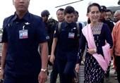 Myanmar's Suu Kyi Visits Troubled Rakhine Border District